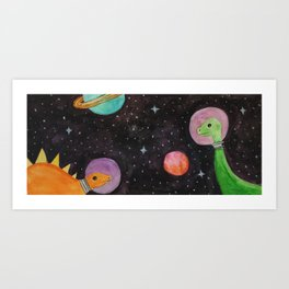 Space Dinosaurs Art Print