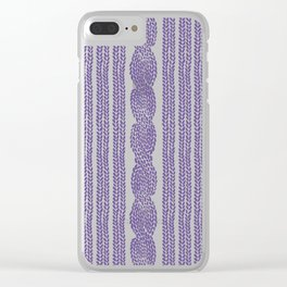 Cable Stripe Violet Clear iPhone Case