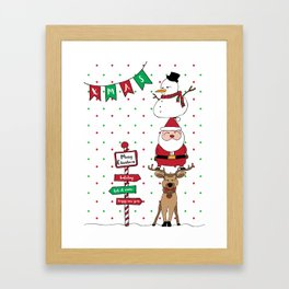 merry chirstmas Framed Art Print