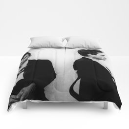 Johnny Cash Mug Shot Horizontal Comforters