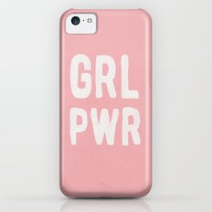 GRL PWR (pink) iPhone 5c Slim Case