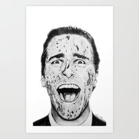 american psycho Art Prints featuring American Psycho by Aoife Rooney Art