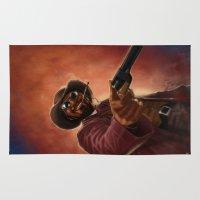 django Area & Throw Rugs featuring Django by Andrea Mangiri