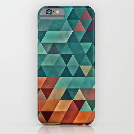 Teal/Orange Triangles iPhone & iPod Case