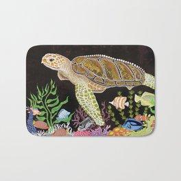 Sea Turtle, Reef Fish Bath Mat