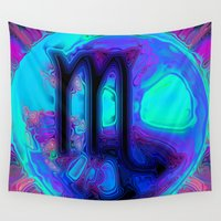 scorpio Wall Tapestries featuring Scorpio by Synesthetic