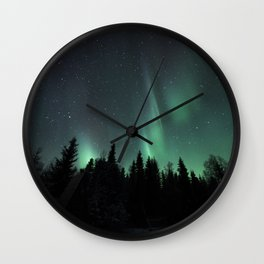 The magic of a wolf girl Wall Clock