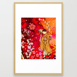 日没 (sunset) Framed Art Print