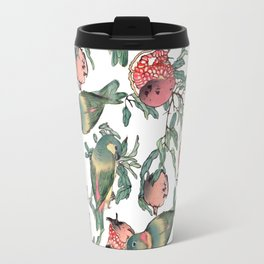 Pomegranate and Lovebirds Travel Mug