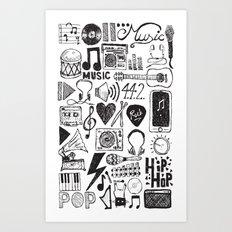 Music Doodles Art Print