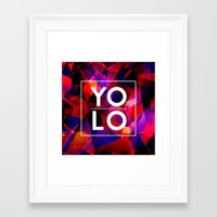 sayings Framed Art Prints featuring Dreams of YOLO Vol.2 by HappyMelvin