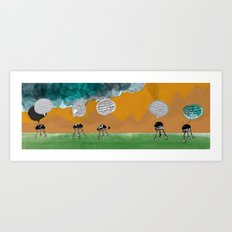 Bleep! Bleep-bleep! Art Print