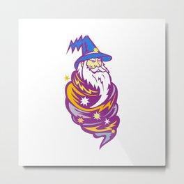 Wizard Tornado Mascot Metal Print