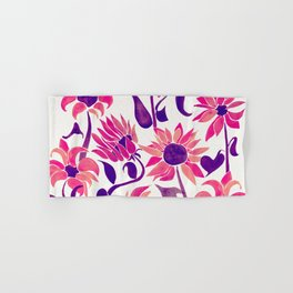 Sunflower Watercolor – Pink & Purple Palette Hand & Bath Towel