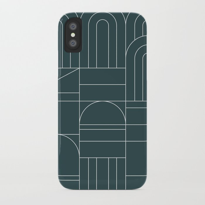 Deco Geometric 04 Teal iPhone Case