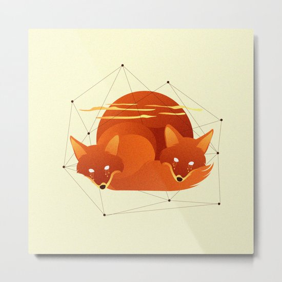 Fiery Fox Metal Print