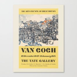 Vincent van Gogh. Exhibition poster for The Tate Gallery in London, 1948. Canvas Print