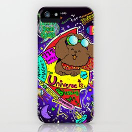 JB the Poodle in Space iPhone Case