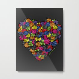 My Happy Heart Metal Print