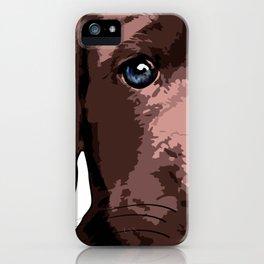 Hot chocolate labrador puppy iPhone Case