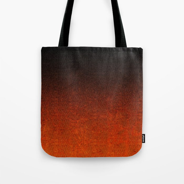 Orange & Black Glitter Gradient Tote Bag