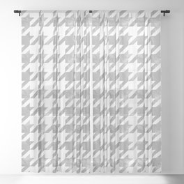 Japanese Traditional Design8 -CHIDORI- Silver Grey Sheer Curtain