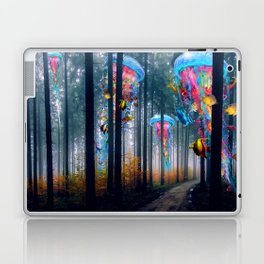 Forest of Super Electric Jellyfish Worlds Laptop & iPad Skin