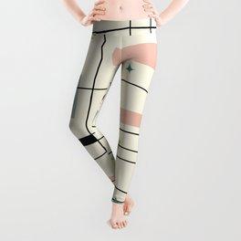 Mid Century Art Bauhaus Style Pastel Leggings