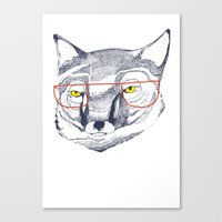 mr fox Canvas Prints featuring Mr Fox by Ashley Percival illustration
