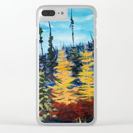 Tamaracks in Autumn Clear iPhone Case