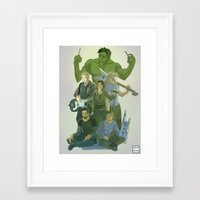 band Framed Art Prints featuring Band by cycloalkane