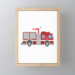 That´s Right I Still Play With Firetrucks For Boys And Girls Framed Mini Art Print
