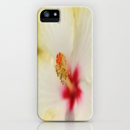 Stamen With Yellow Hibiscus Petal Background  iPhone Case