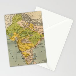 Vintage India Maratha and Mysore War Map (1804) Stationery Cards