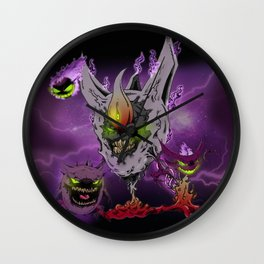 Gastly ReCaptured (5 of 5) Wall Clock