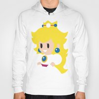 princess peach Hoodies featuring Princess Peach - Minimalist  by Adrian Mentus