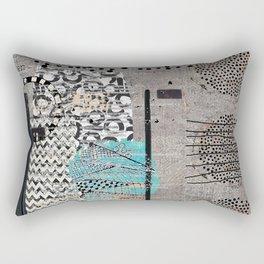 Grey Teal Abstract Art  Rectangular Pillow