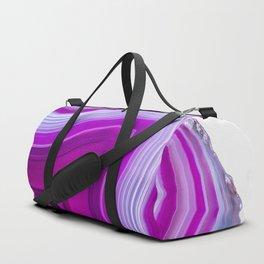 Pink bubblegum stripe agate 3085 Duffle Bag