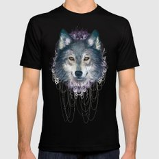Wolf Mens Fitted Tee Black X-LARGE