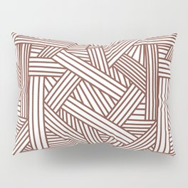 Sketchy Abstract (Brown & White Pattern) Pillow Sham