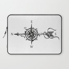 Compass with Arrow (Tattoo stule) Laptop Sleeve