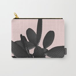 Black Blush Cactus #2 #plant #decor #art #society6 Carry-All Pouch