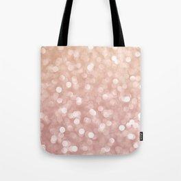 Rosegold Glitter Bokeh Glam Pattern Tote Bag
