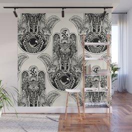 Hamsa Hand Elephant Wall Mural