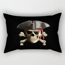 The Jolly Roger Pirate Skull Rectangular Pillow
