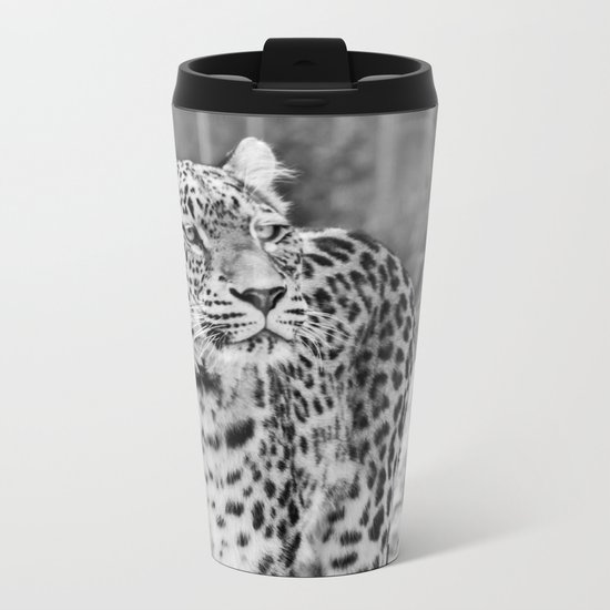 Persian Leopard 2 Metal Travel Mug