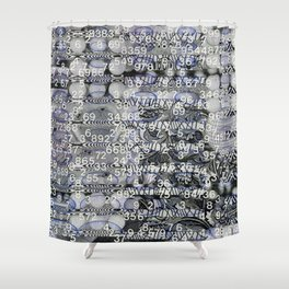 Post Digital Tendencies Emerge (P/D3 Glitch Collage Studies) Shower Curtain