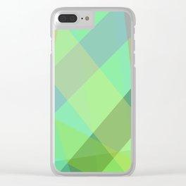 Stripes - Seafoam Green Clear iPhone Case