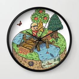 New Leaf Wall Clock