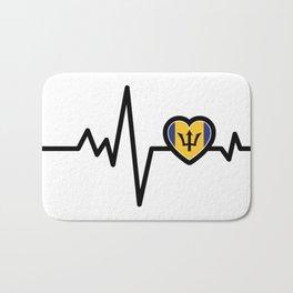 Barbados Heart Monitor Bath Mat